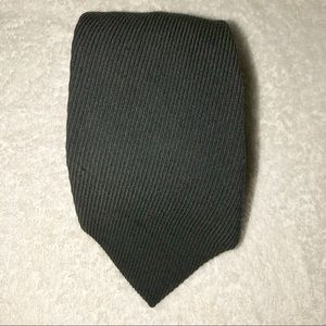 Giorgio Armani Black Textured Wool Blend  Tie.